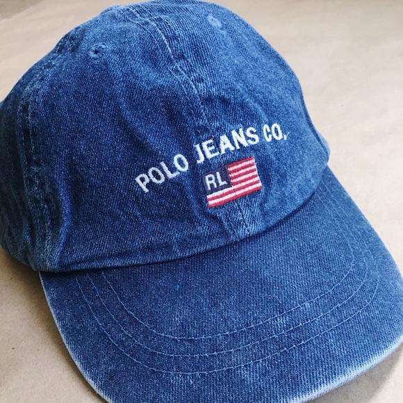 a0c6a97243579 Polo Jeans Co. - Denim Baseball Hat. M 5a3d756c36b9de018802cb5a